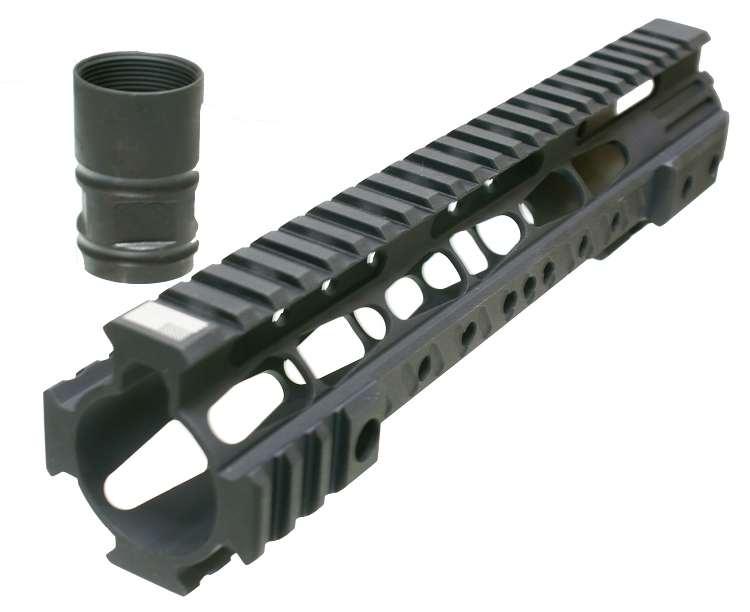 free float Quad Rail Hand Guard mid length