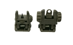 Polymer Flip Up Front and Rear Sights OD Green