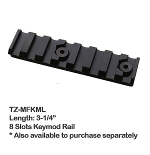 Keymod rail with 8 slots