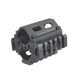 Shotgun Tri-rail Barrel Mount, 5 Slots Each Rail