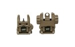 Polymer Flip Up Front and Rear Sights Flat Dark Earth
