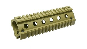 Quad Rail Hand Guard for Carbine Size AR Desert Tan
