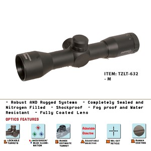 4X32 Compact Size Scope